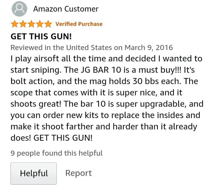 JG VSR-10 / BAR-10 Review