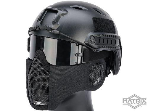 Matrix Carbon Striker Mesh Mask w_ Integrated Mesh Ear Protection